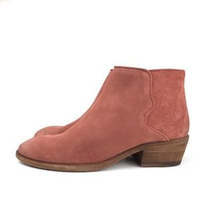 🆕 Frye Carson Piping Suede Ankle Bootie Rosewood